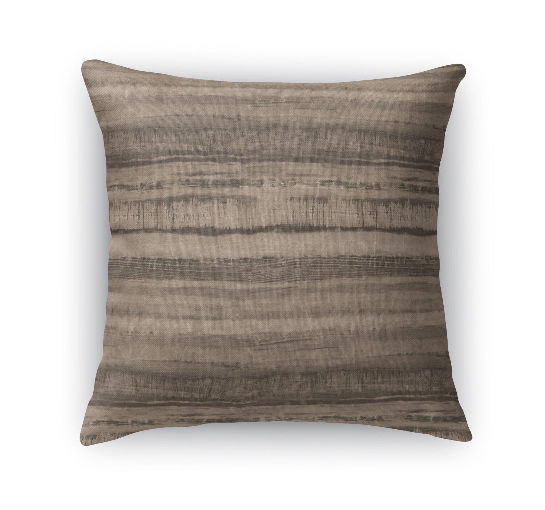 Washy Watercolor Stripe Throw Pillow Size: 24