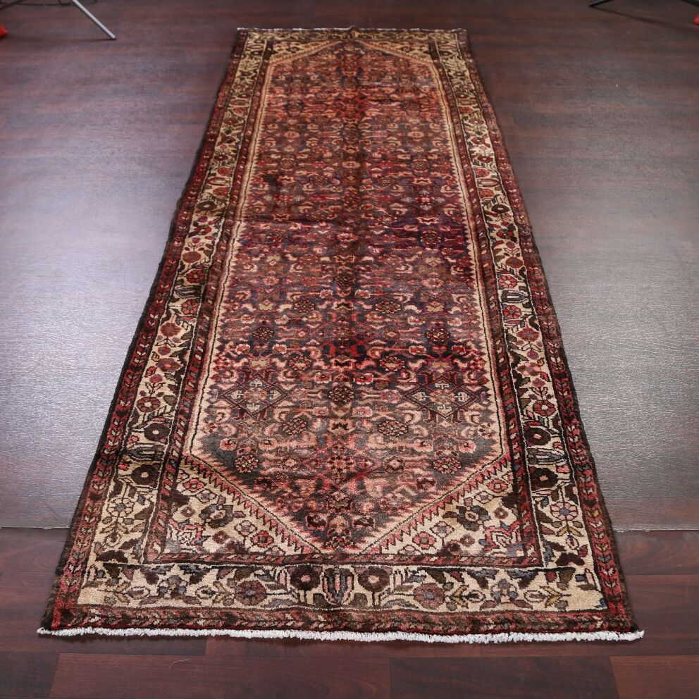 One-of-a-Kind Hamedan Classical Persian Vintage Hand-Knotted 3'8