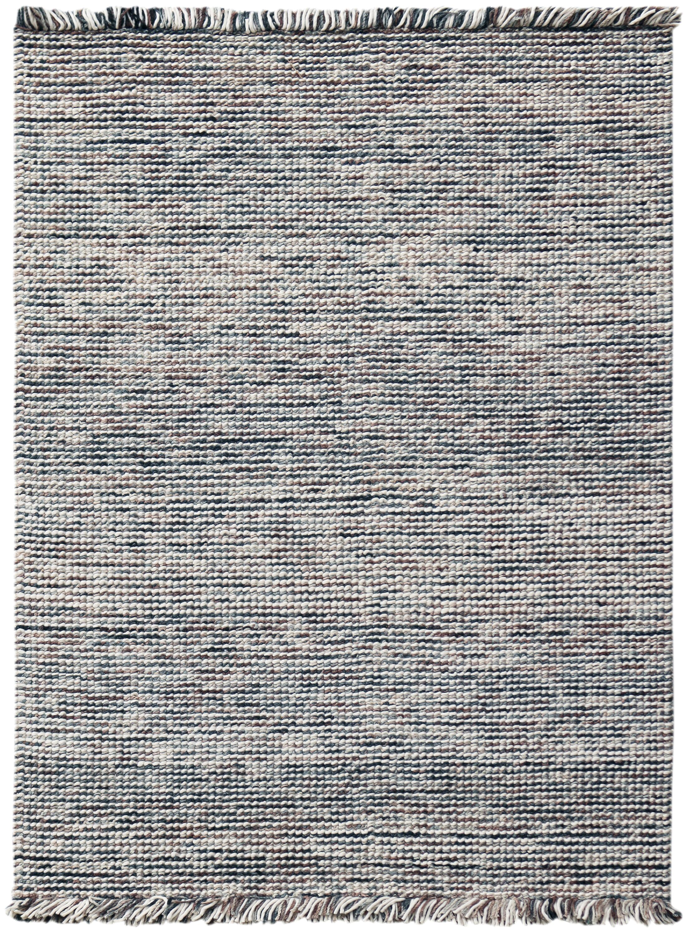 Louth Casual Handwoven Wool/Cotton Gray Area Rug Rug Size: Rectangle 3' x 5'