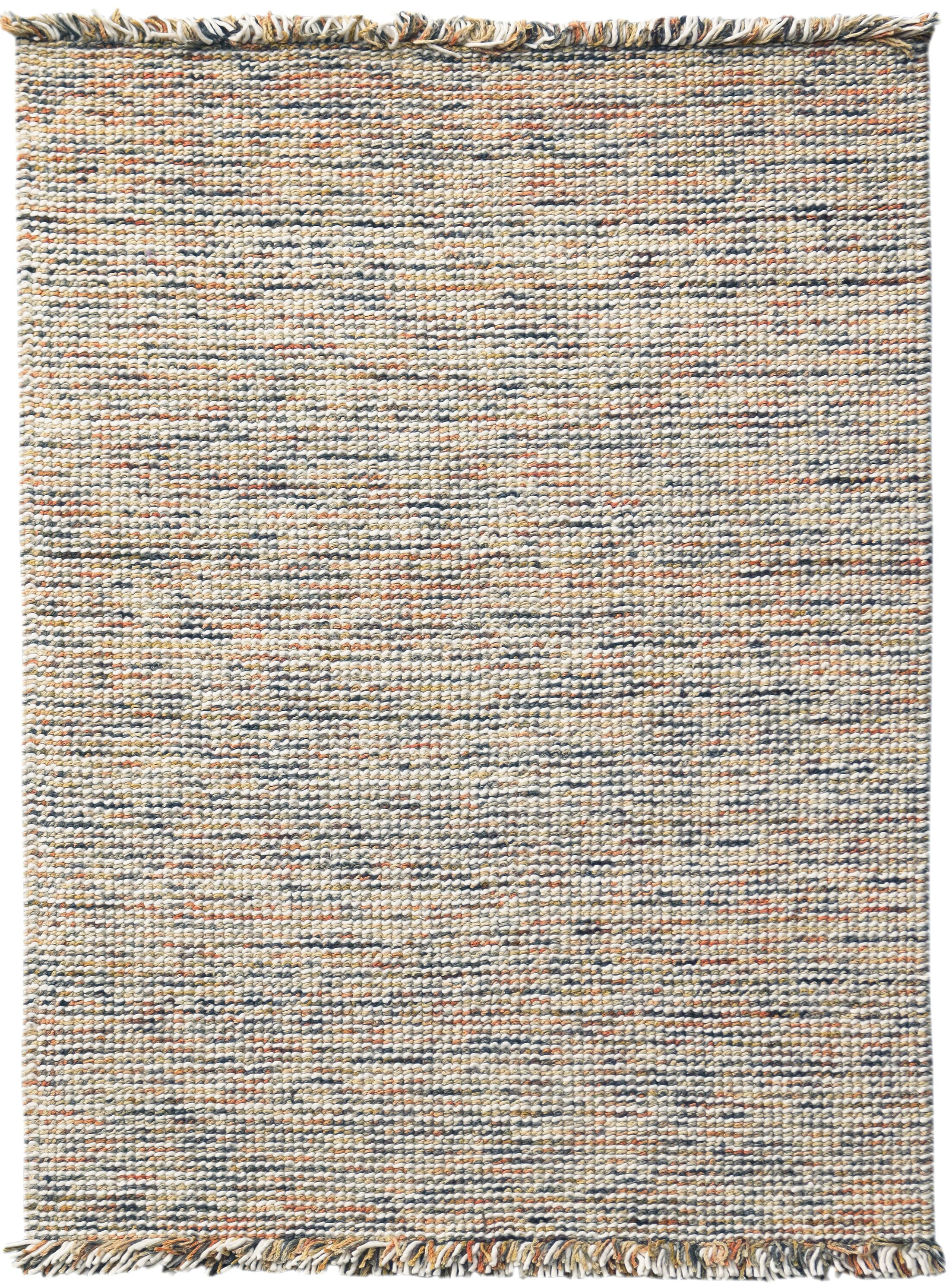 Louth Casual Handwoven Wool/Cotton Orange Area Rug Rug Size: Rectangle 9' x 12'