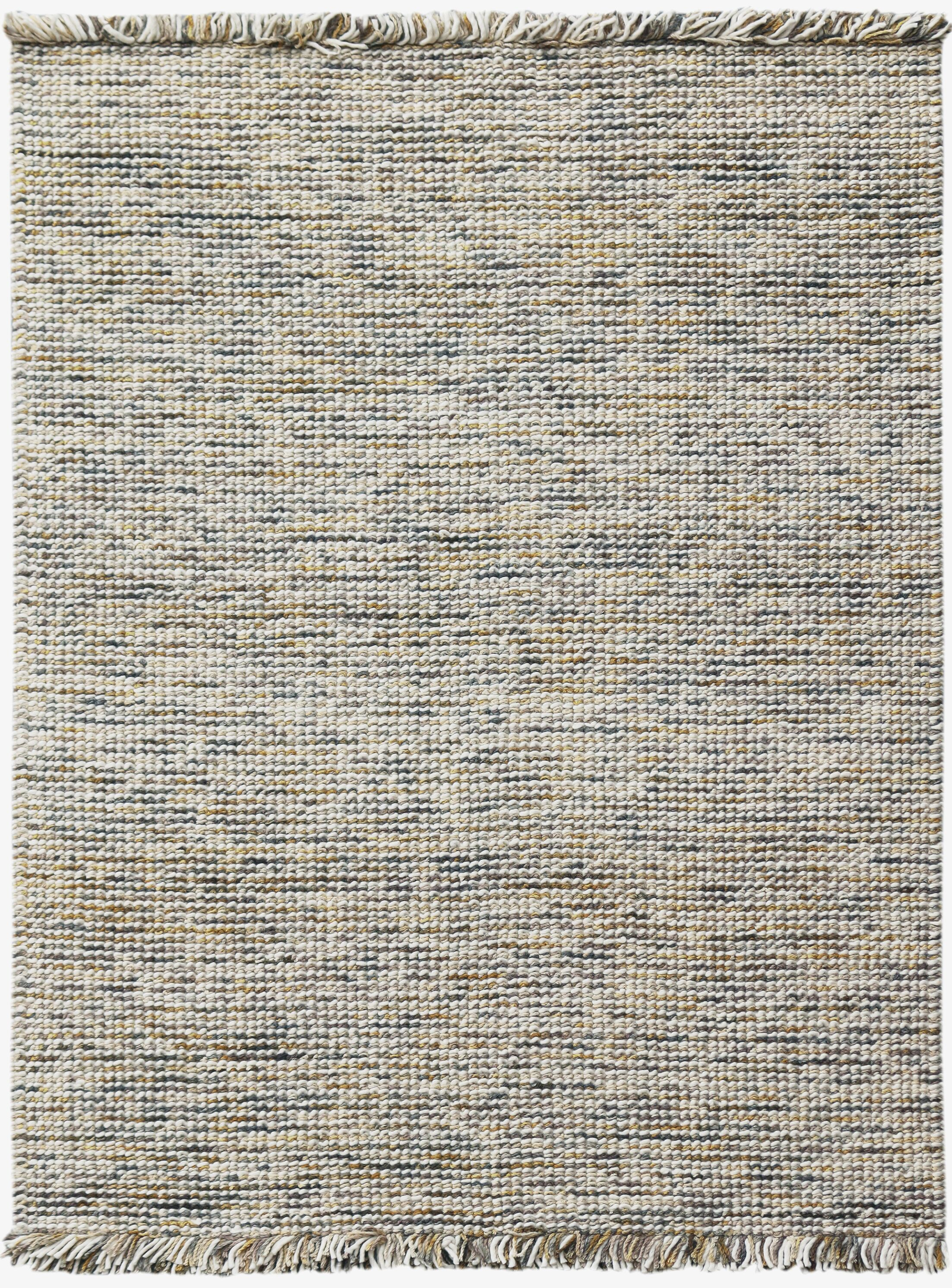 Louth Casual Handwoven Wool/Cotton Gold Area Rug Rug Size: Rectangle 5' x 7'6