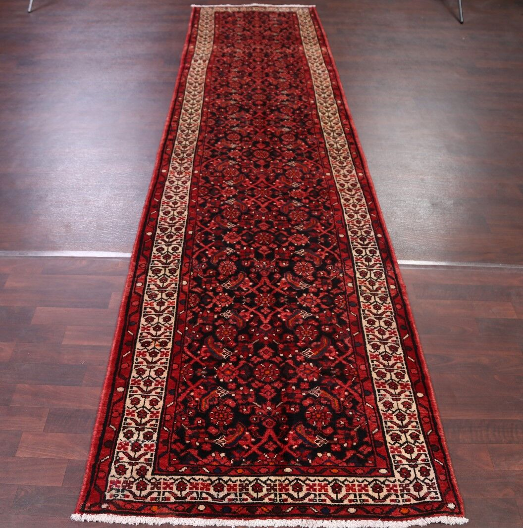 One-of-a-Kind All Over Floral Hamedan Persian Hand-Knotted 3'4