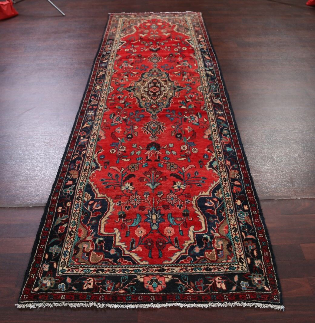 One-of-a-Kind Classical Hamedan Vintage Persian Hand-Knotted 3'6
