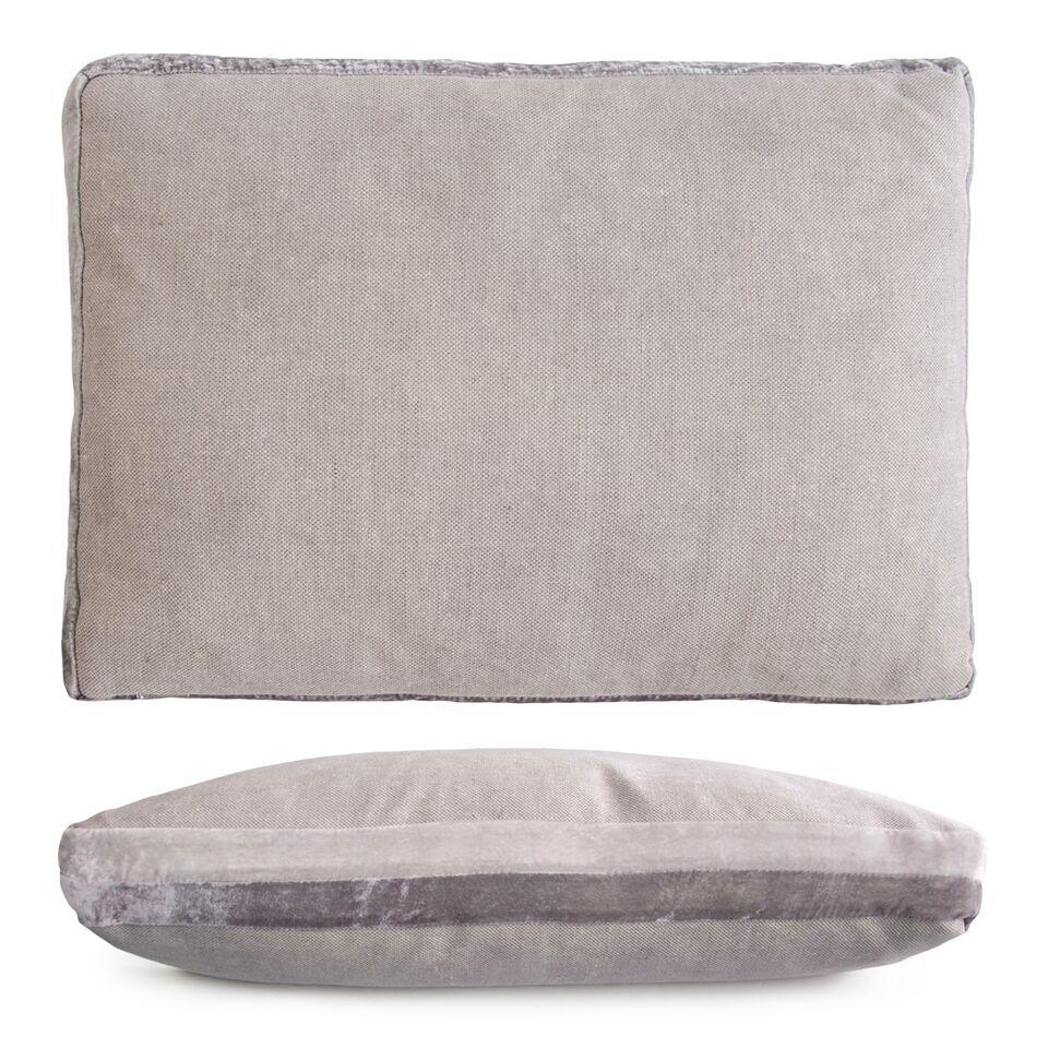 Double Tuxedo Lumbar Pillow Color: Silver