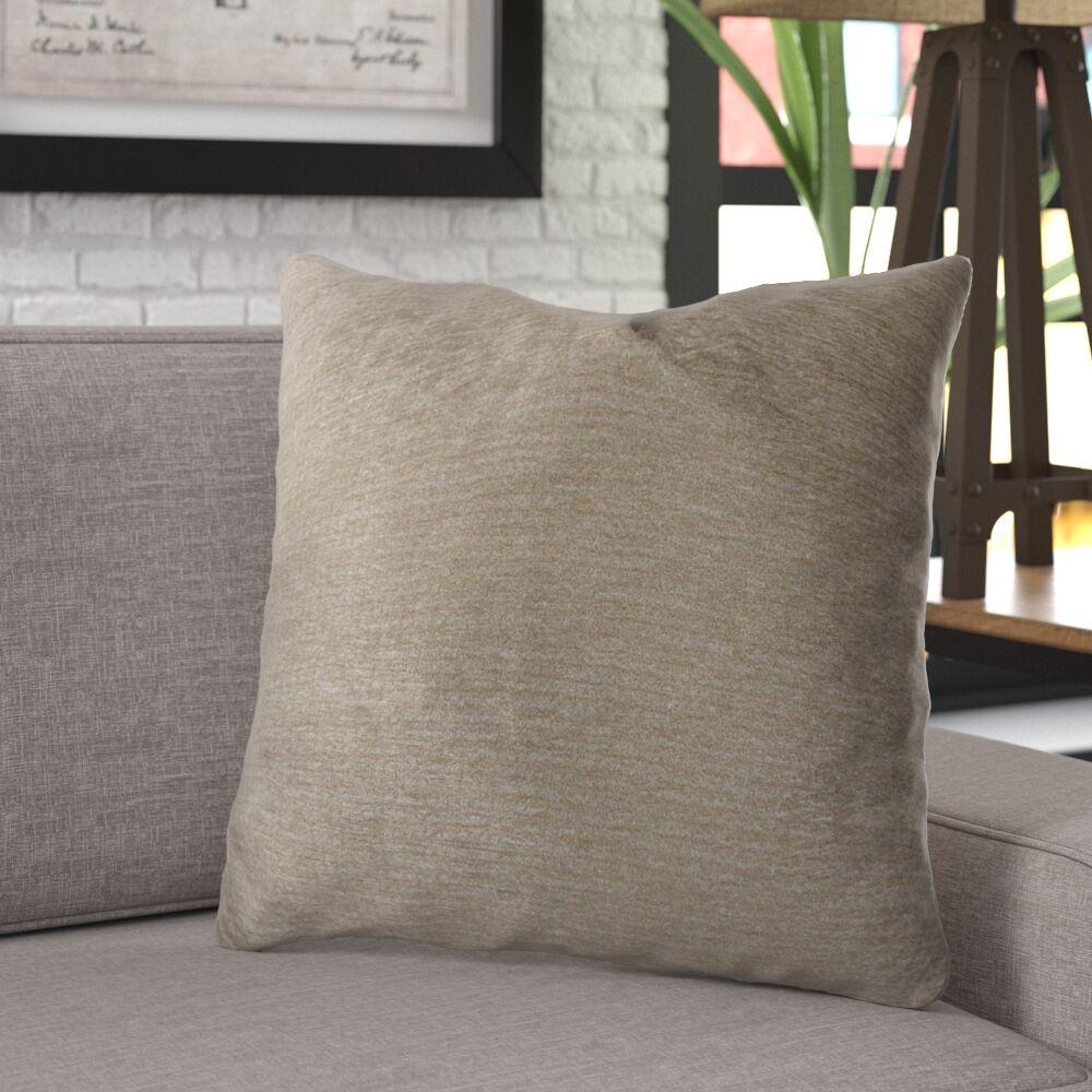 Ledger Luxury Cotton Throw Pillow Size: 22