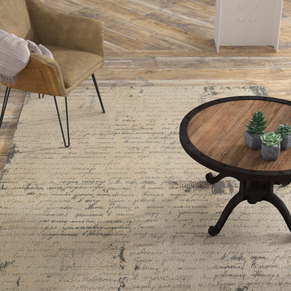 Brunson Beige Area Rug Rug Size: Rectangle 5' x 7'