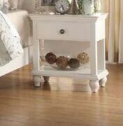 Cleckheat 1 Drawer Nightstand Color: White