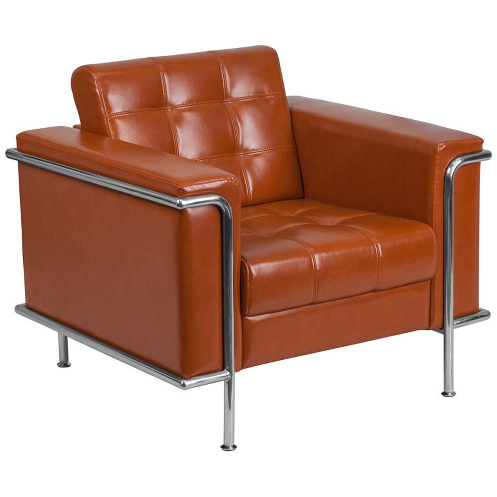 Judah Contemporary Leather Lounge Chair