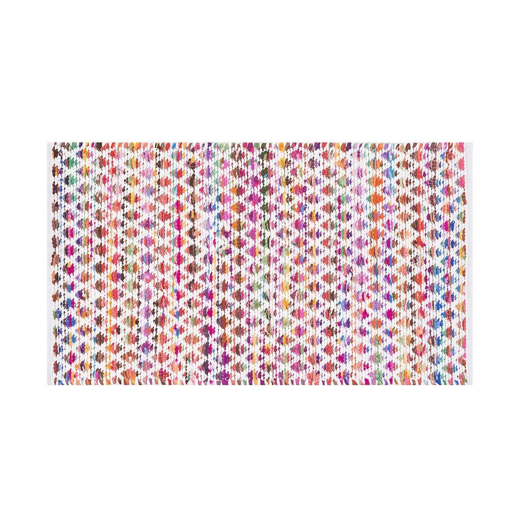 Simsbury Hand-Knotted Cotton Pink/Yellow Area Rug