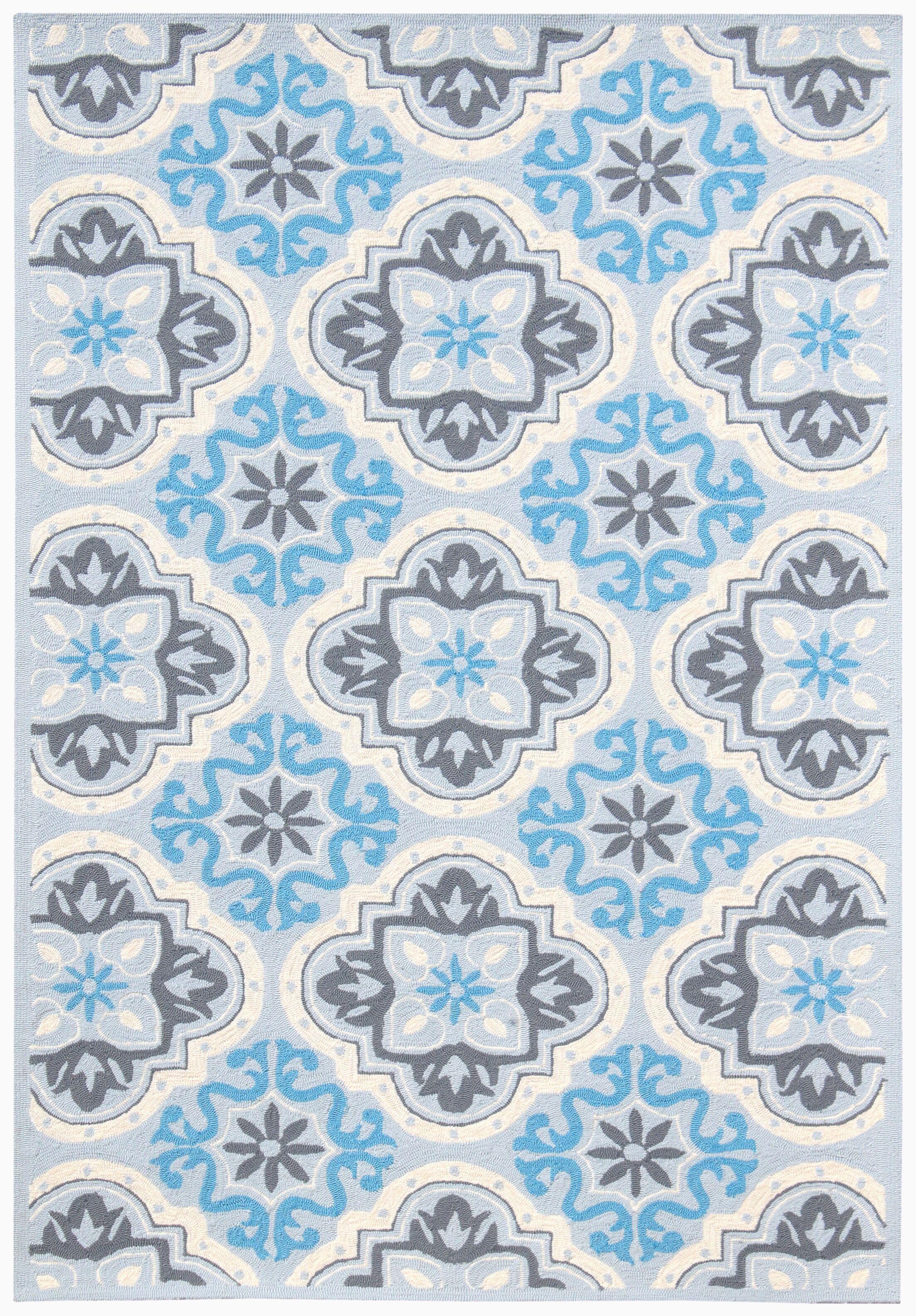 New Hartford Blue Indoor/Outdoor Area Rug Rug Size: Rectangle 5'x7'6