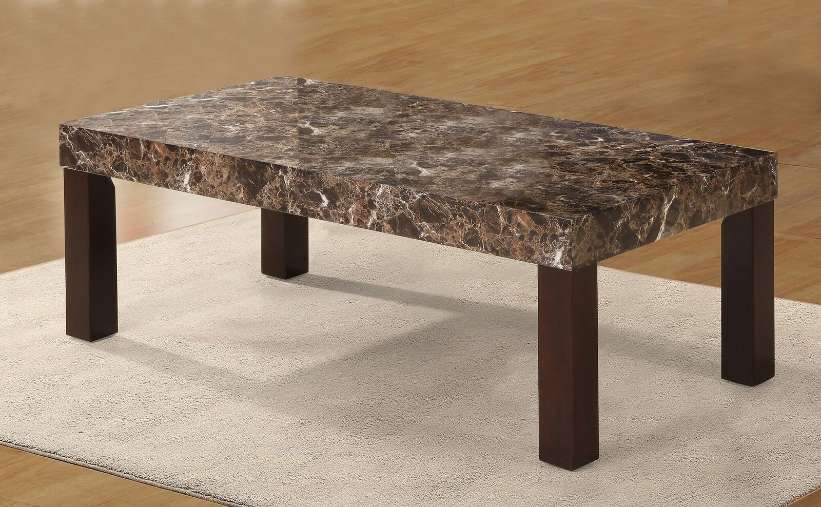 Mccullum Faux Marbelized Granite Coffee Table