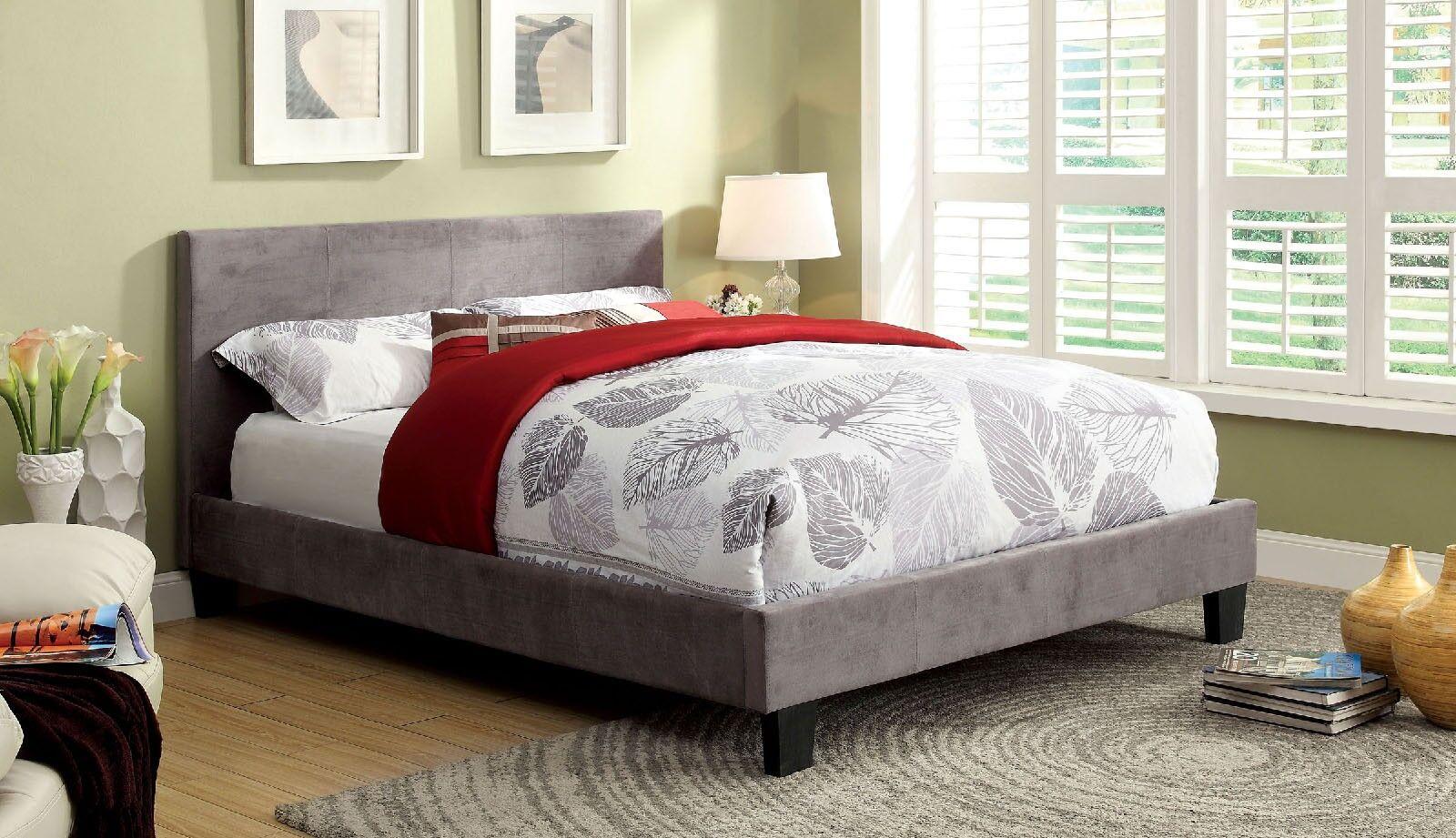 Jago Upholstered Platform Bed Color: Gray, Size: Full