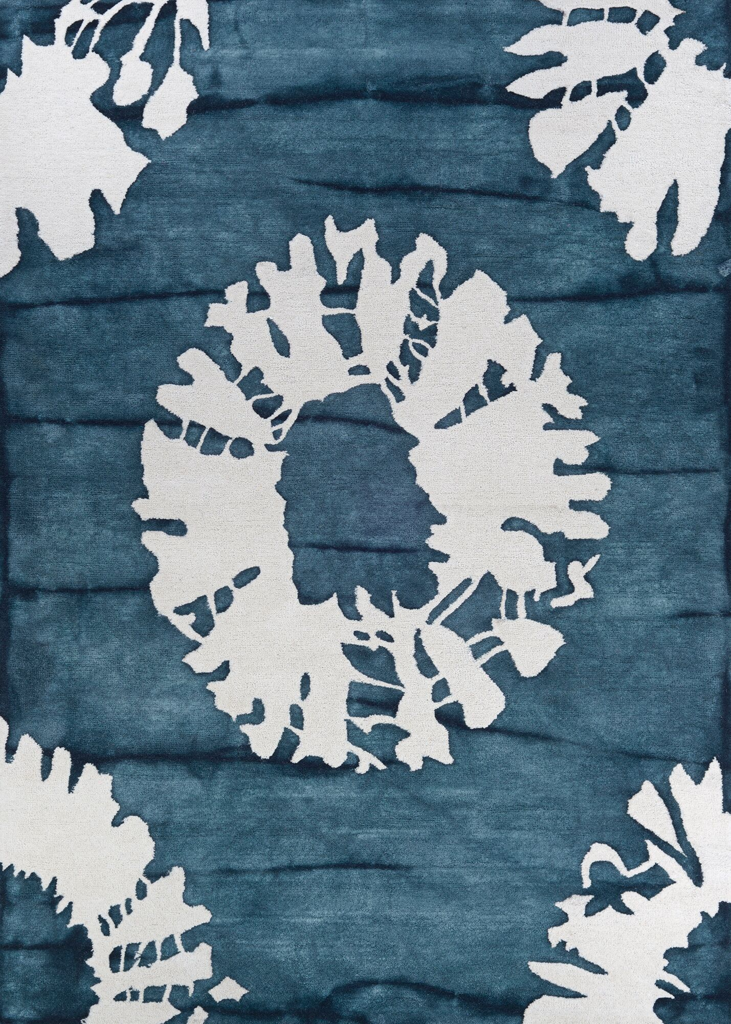 Sasso Hand-Tufted Wool Blue Area Rug Rug Size: Rectangle 6' x 9'