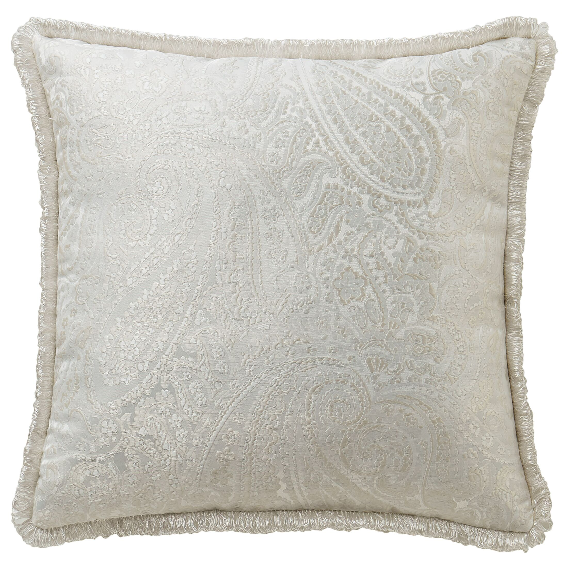 Landon Throw Pillow Color: White