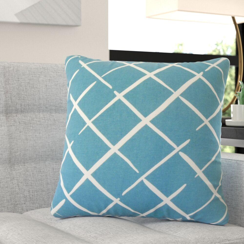 Kistner Geometric Down Filled 100% Cotton Throw Pillow Size: 22