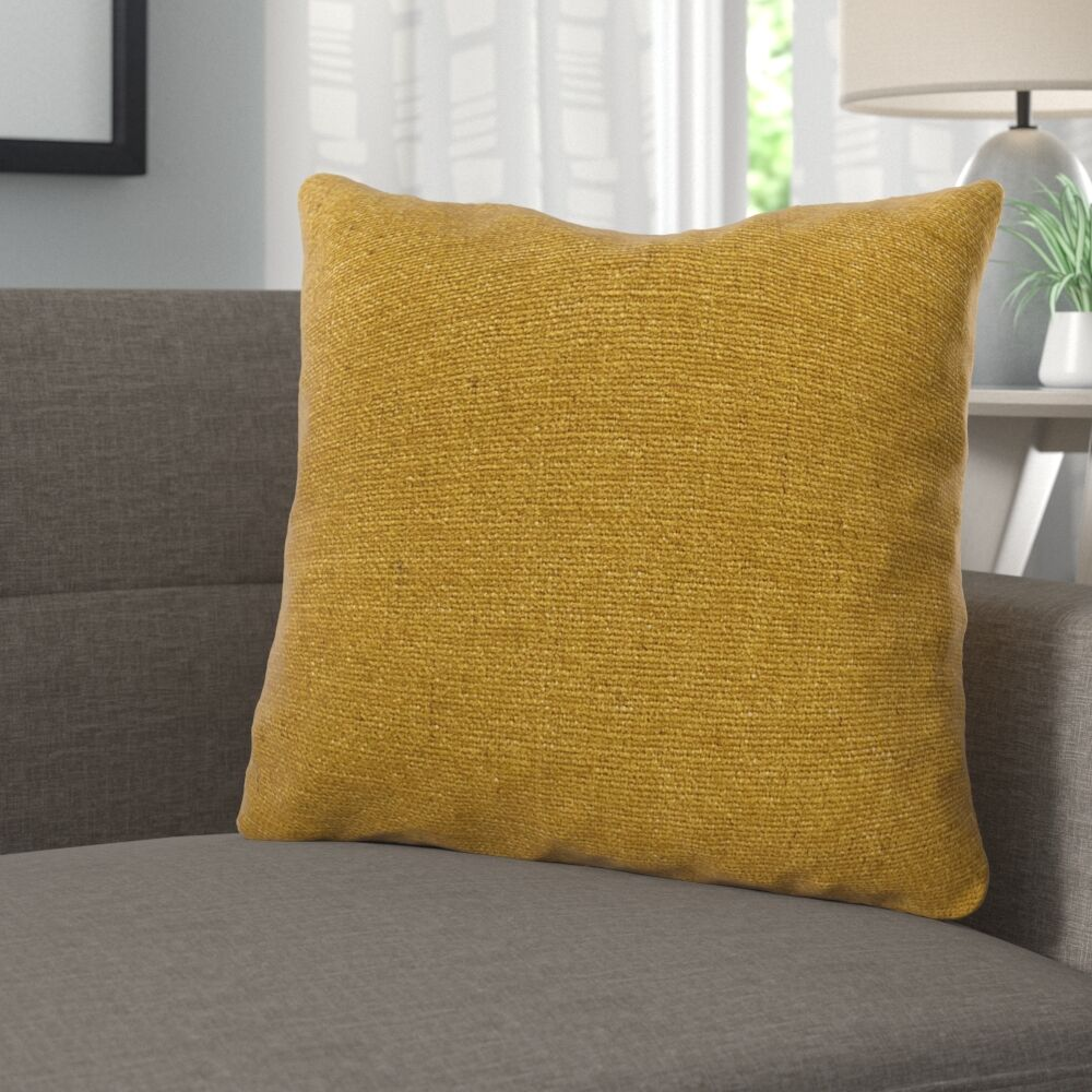 Deskins Turmeric Luxury Pillow Size: 16