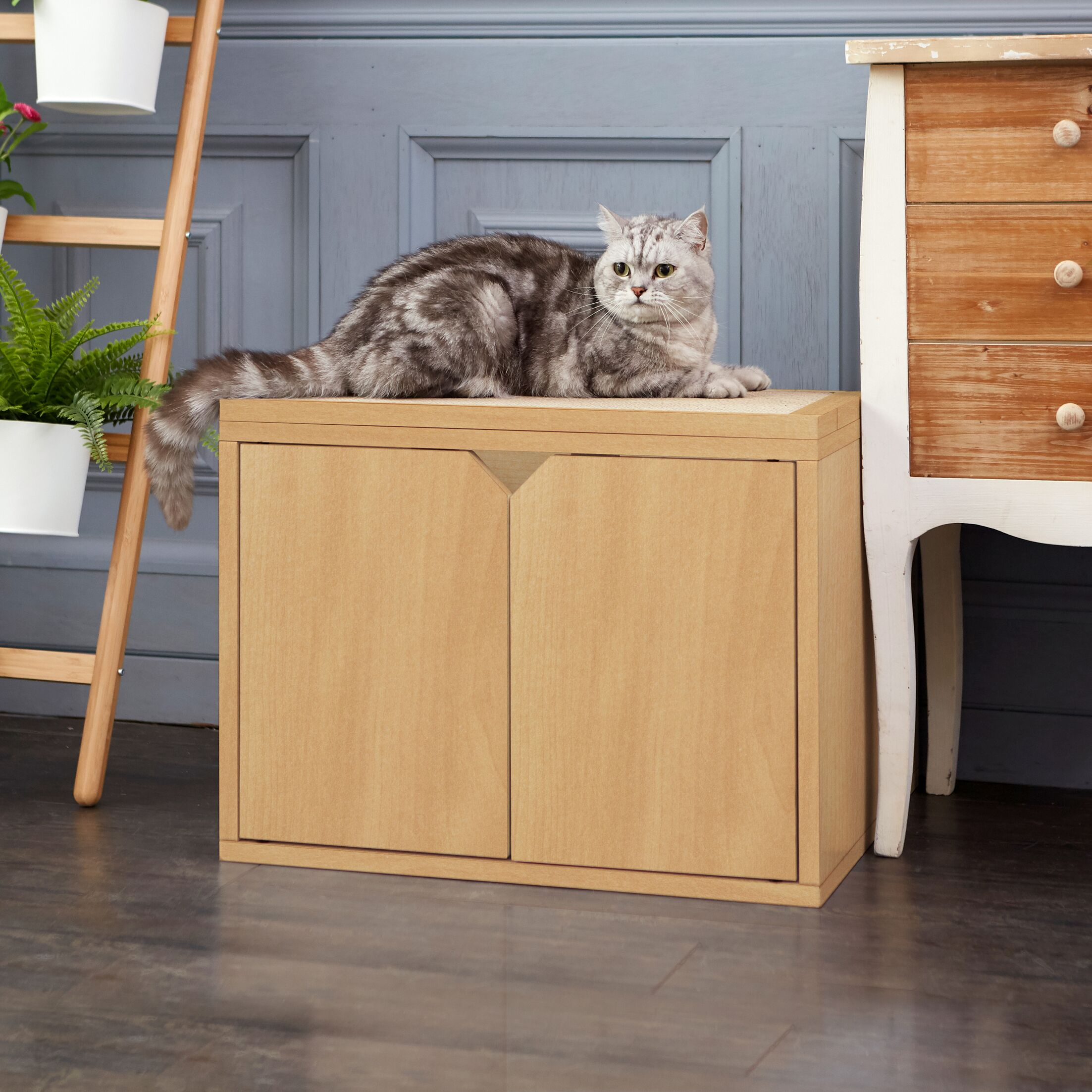Ashbaugh Litter Box Enclosure Color: Natural