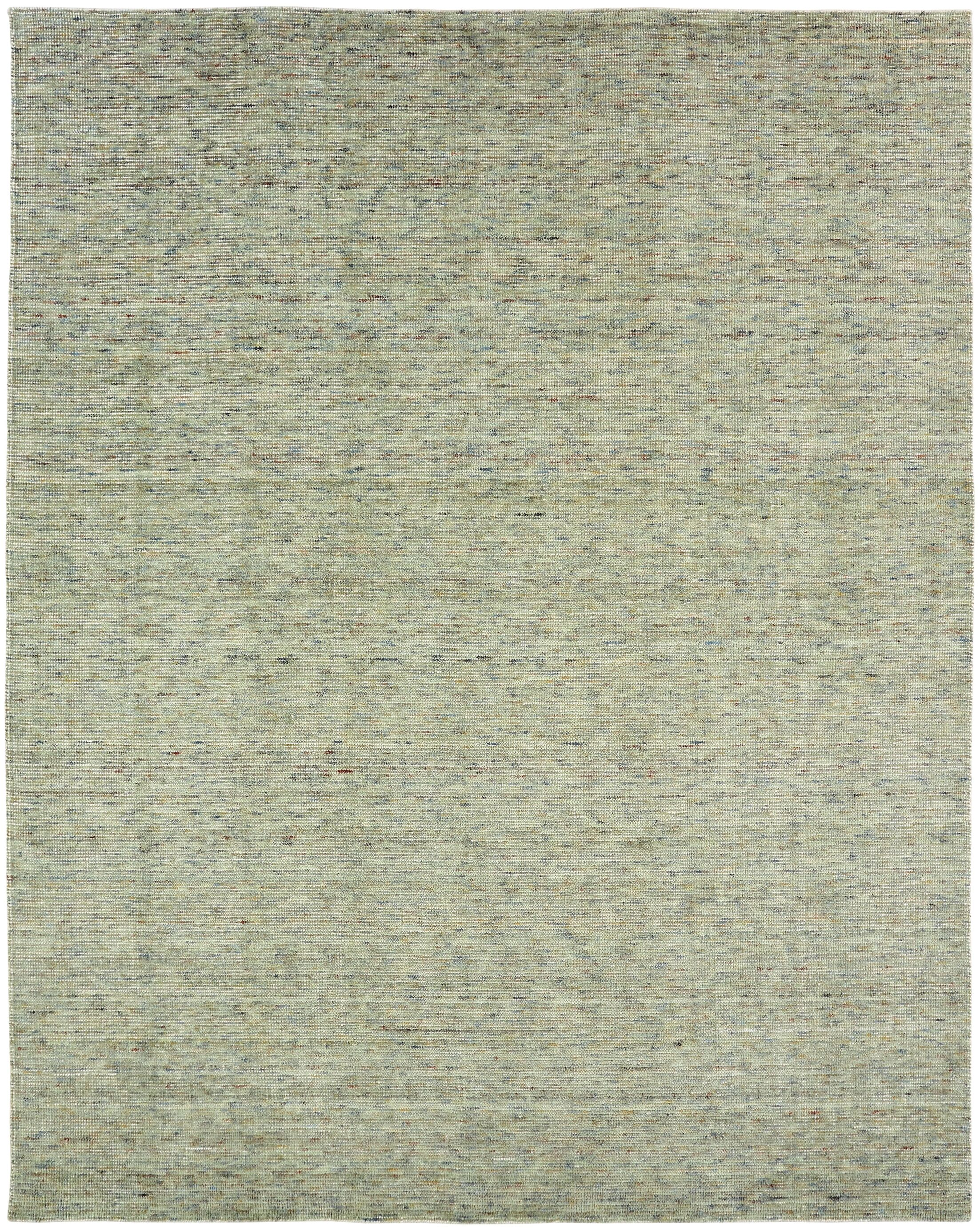 Beckstead Hand-Hooked Green Area Rug Rug Size: Rectangle 8'6