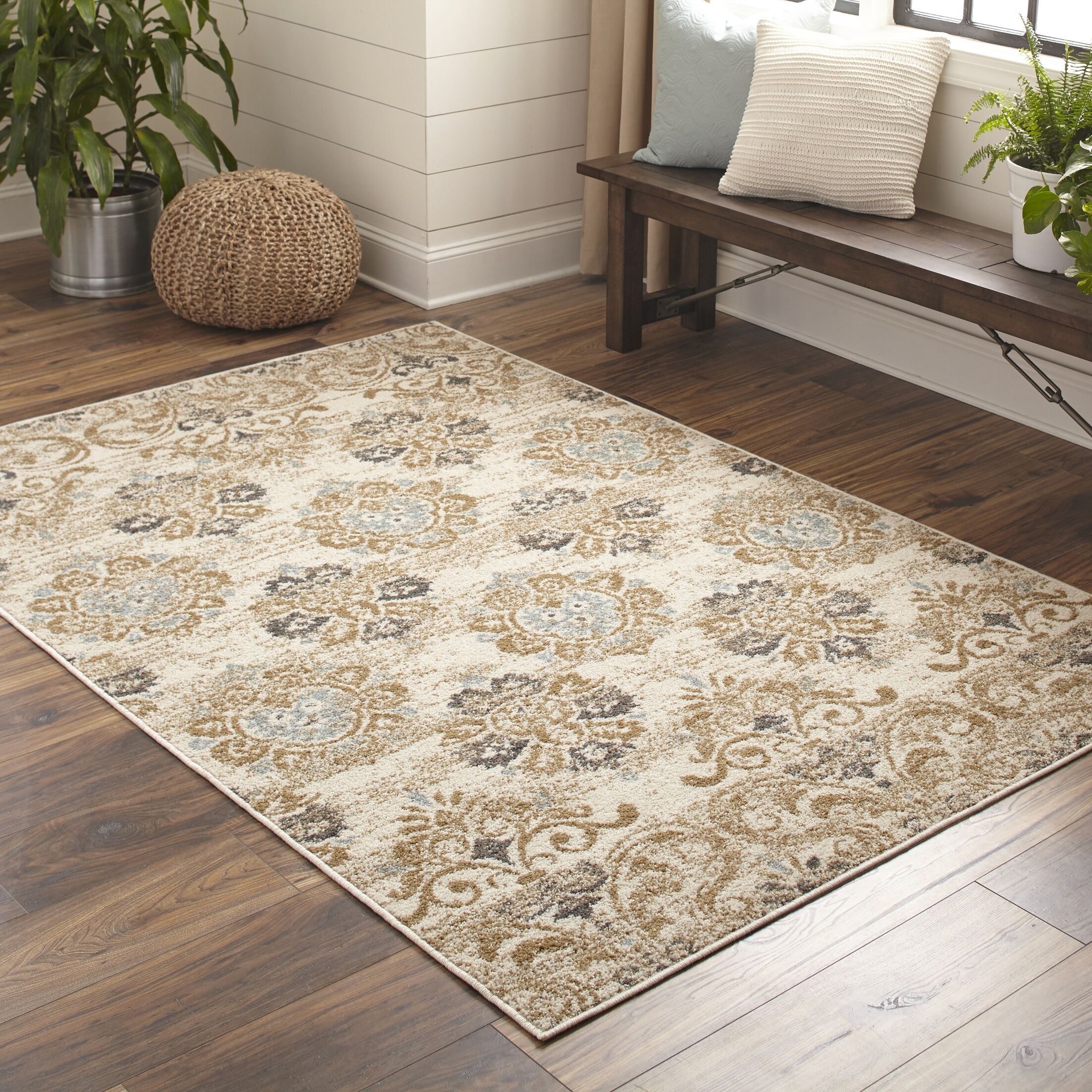 Suffield Ivory Area Rug Rug Size: Rectangle 6'7