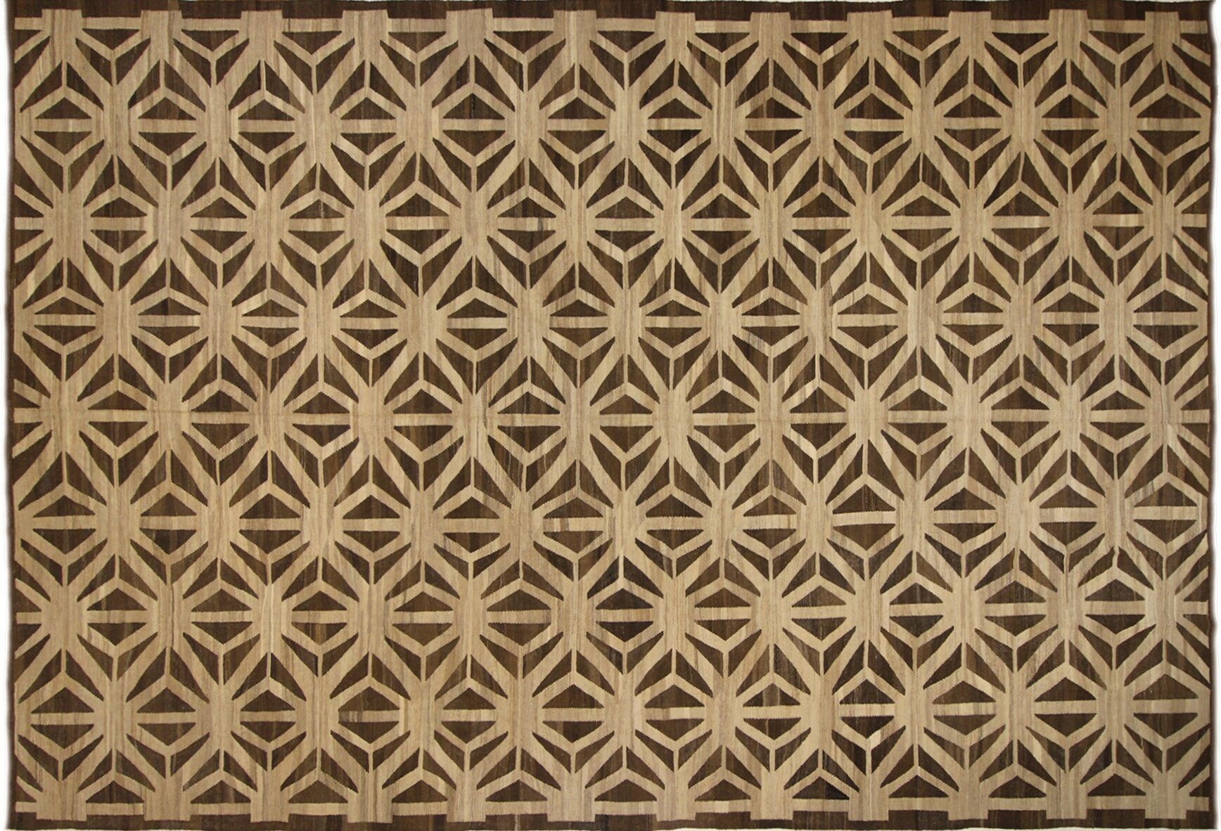 Remmington Kilim Handwoven Flatweave Wool Beige Area Rug