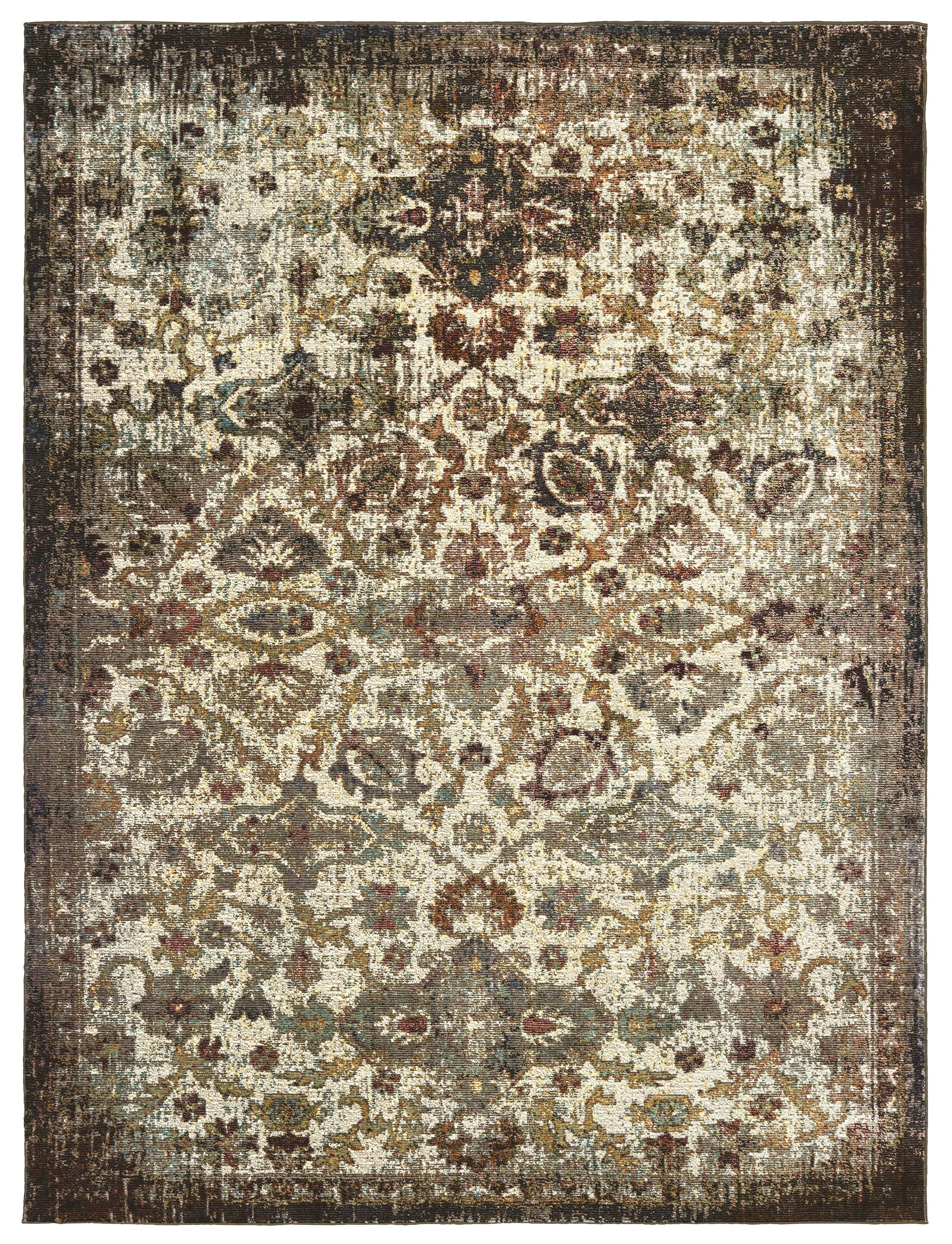 United Weavers Bohemian Jamaica Ivory Area Rug Rug Size: Rectangle 5'2