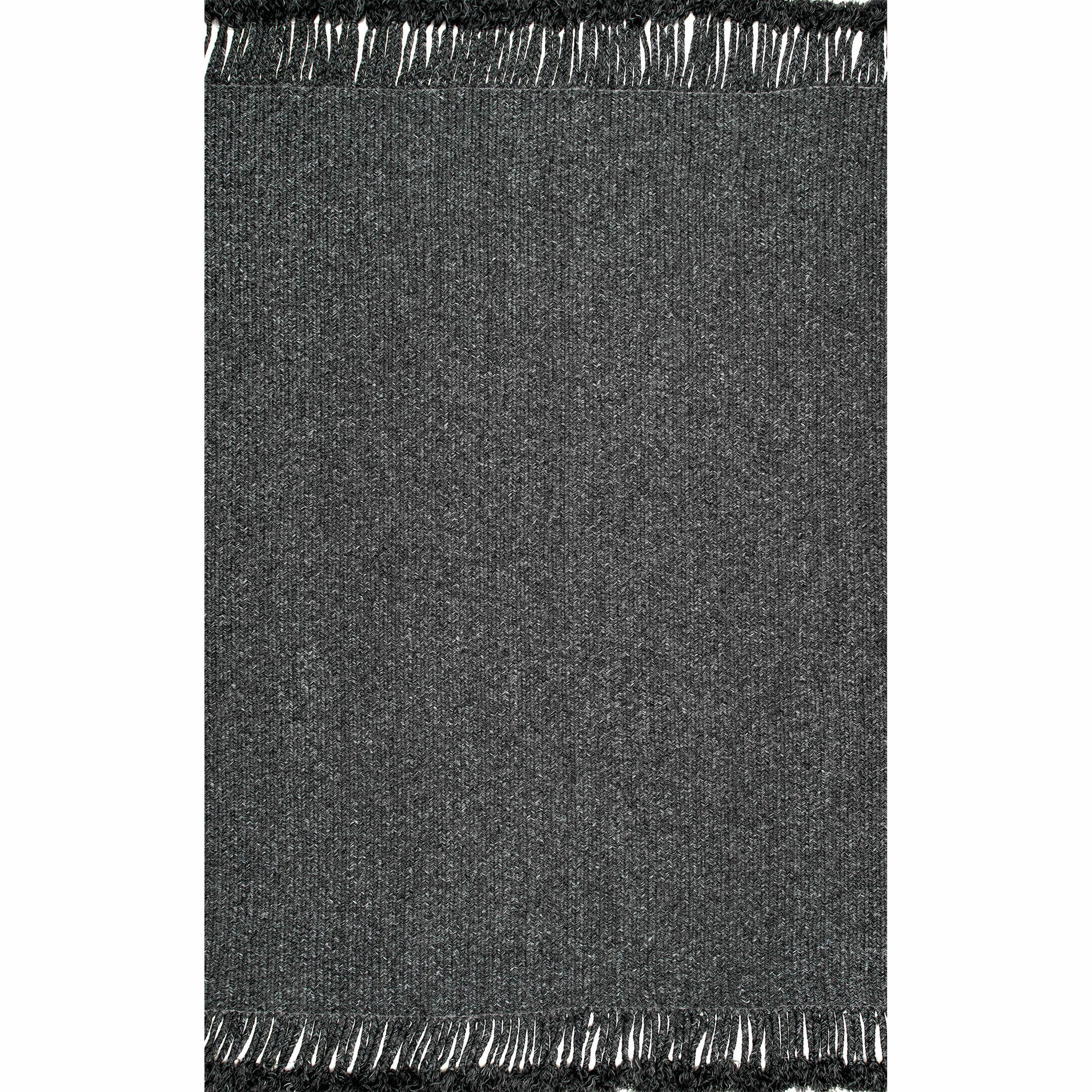Bedard Charcoal Indoor/Outdoor Use Area Rug Rug Size: Rectangle 7' 6