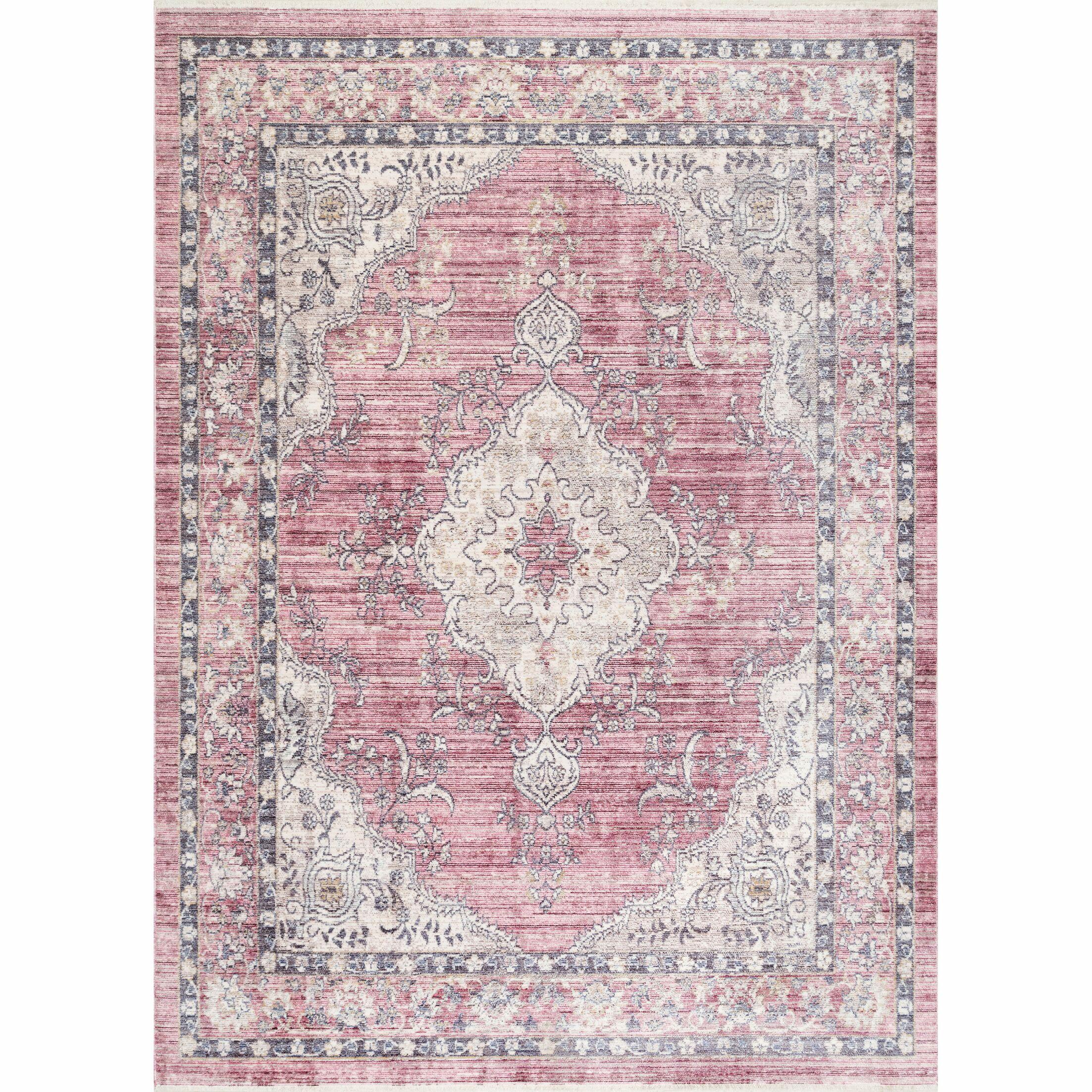 Wachapreague Pink Area Rug Rug Size: Rectangle 5' 3