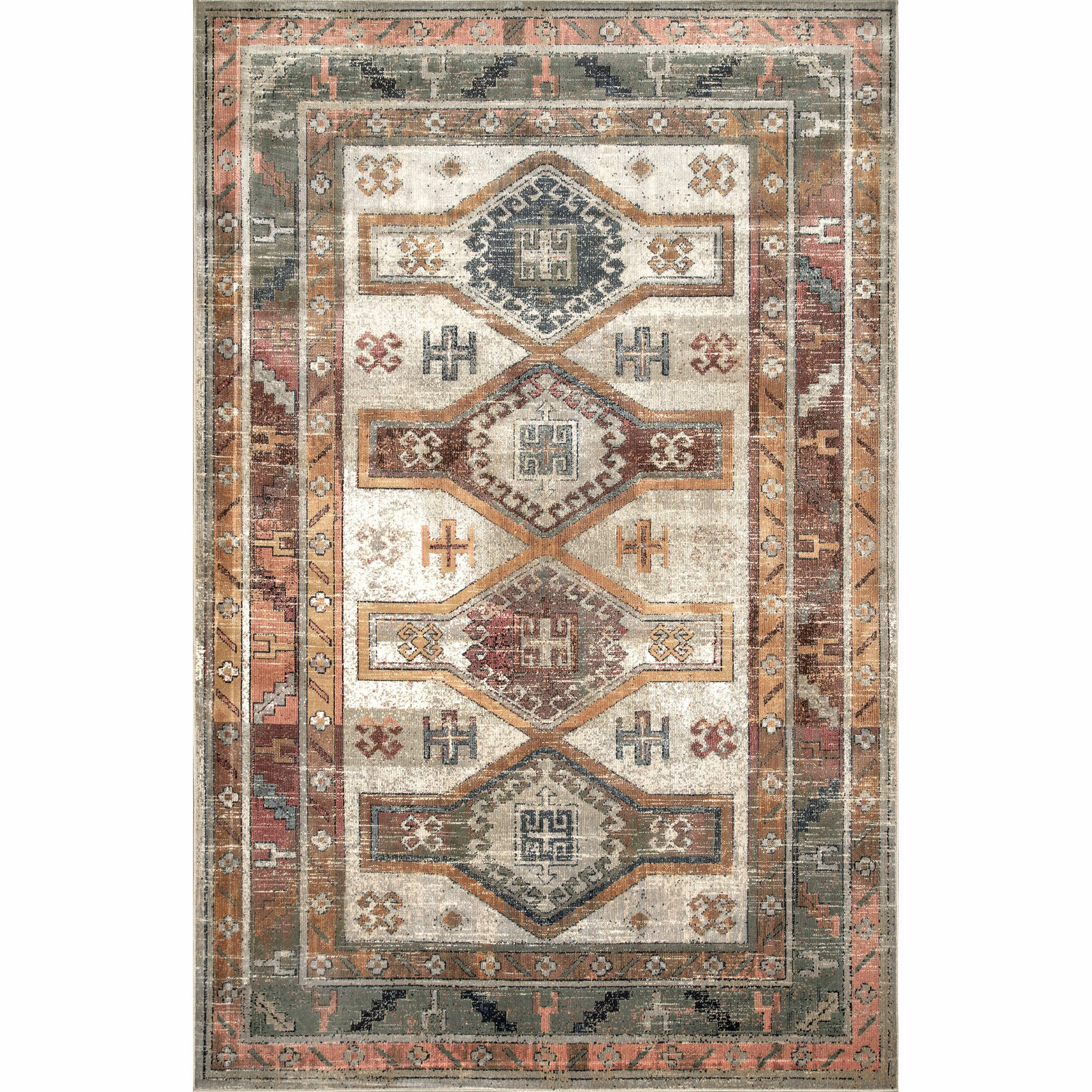 Round Hill Beige/Brown Area Rug Rug Size: Rectangle 9' x 12'