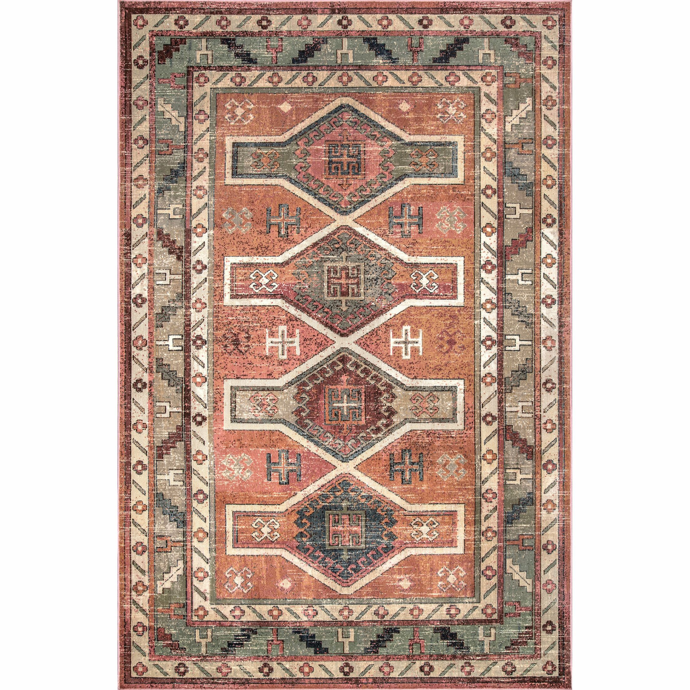 Abilene Orange/Red Area Rug Rug Size: Rectangle 7' 10