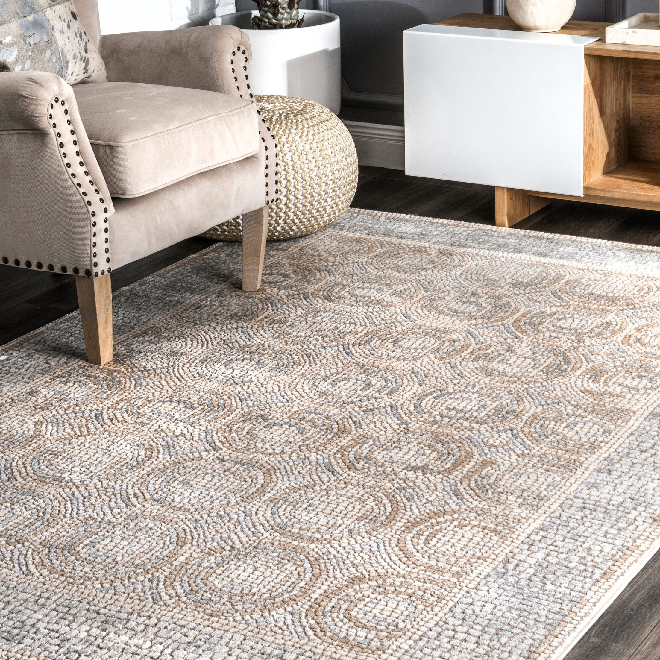 Tazewell Beige Area Rug Rug Size: Rectangle 5' 3