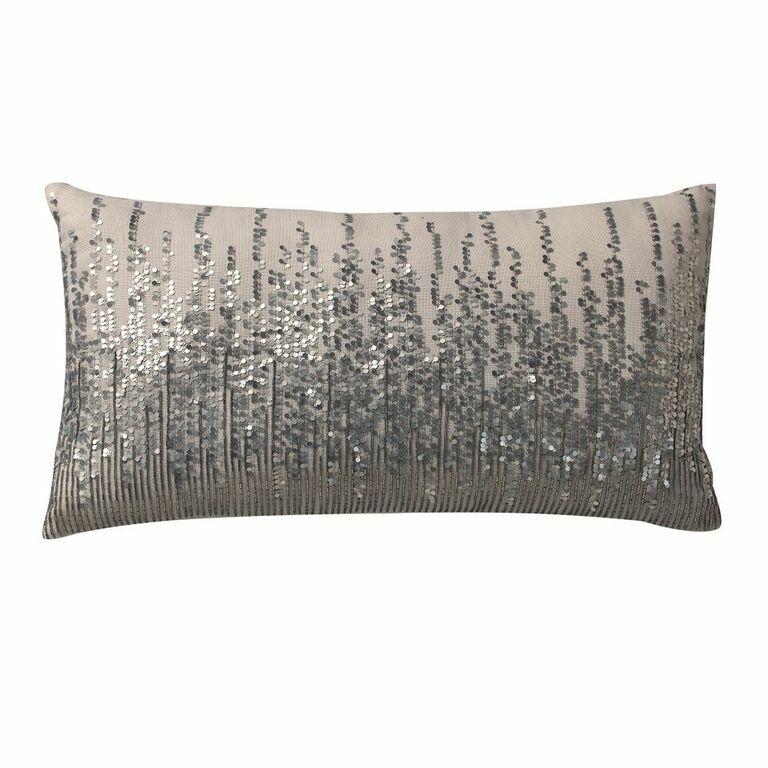 Trinity Linen Lumbar Pillow Color: Silver