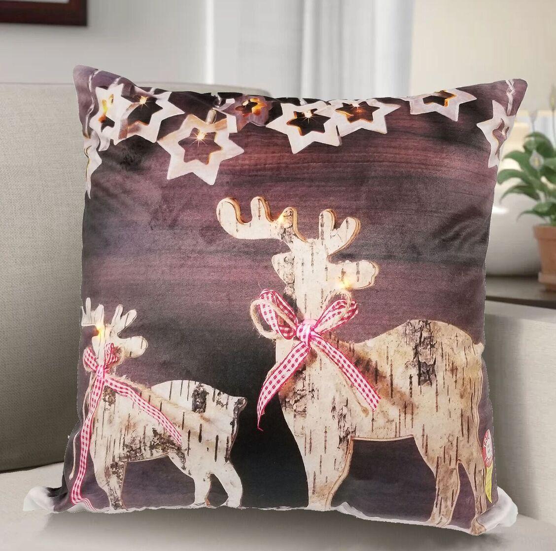 Beck Reindeer Throw Pillow
