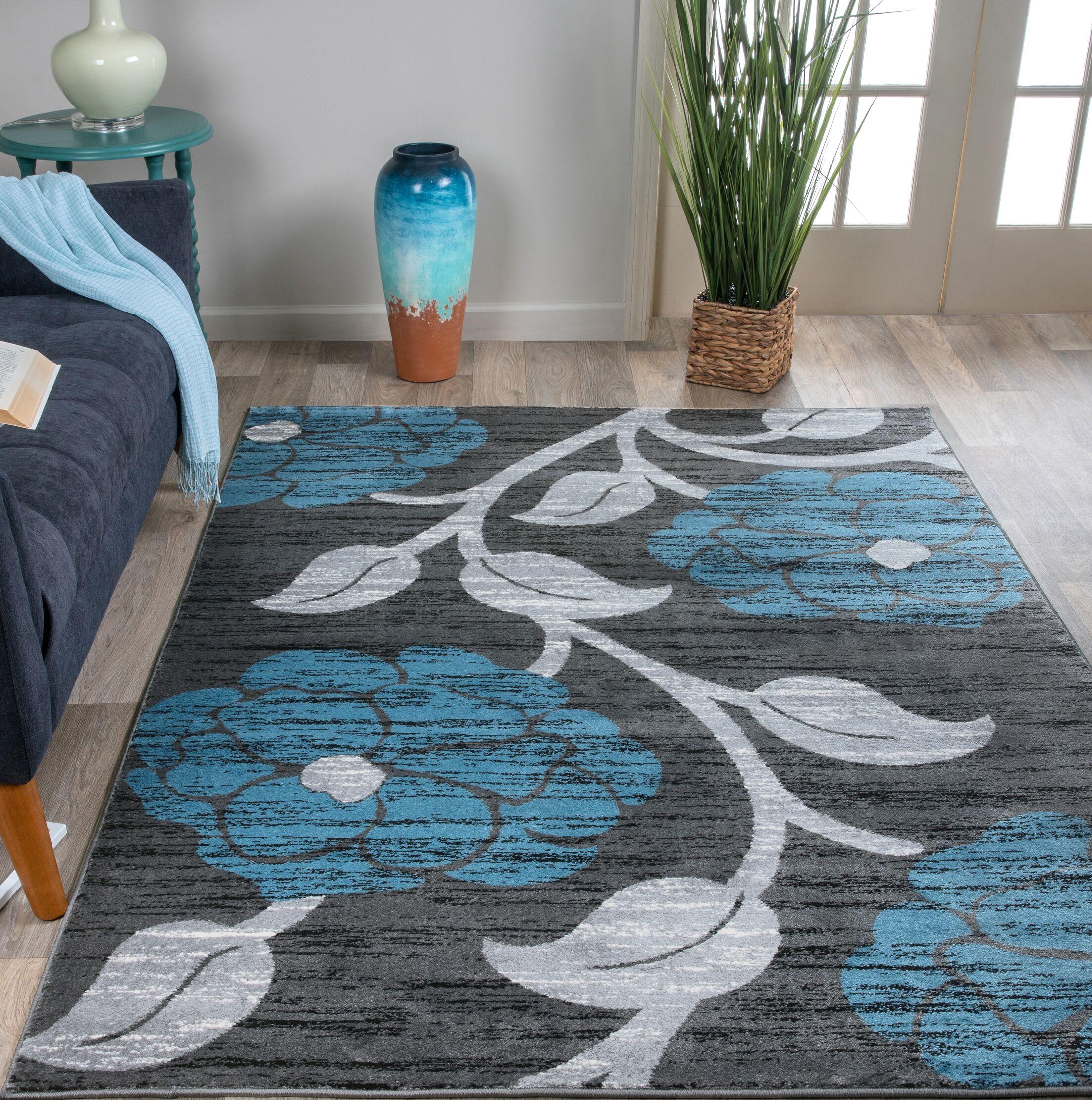 Docia Design Blue Area Rug Rug Size: Rectangle 7'10