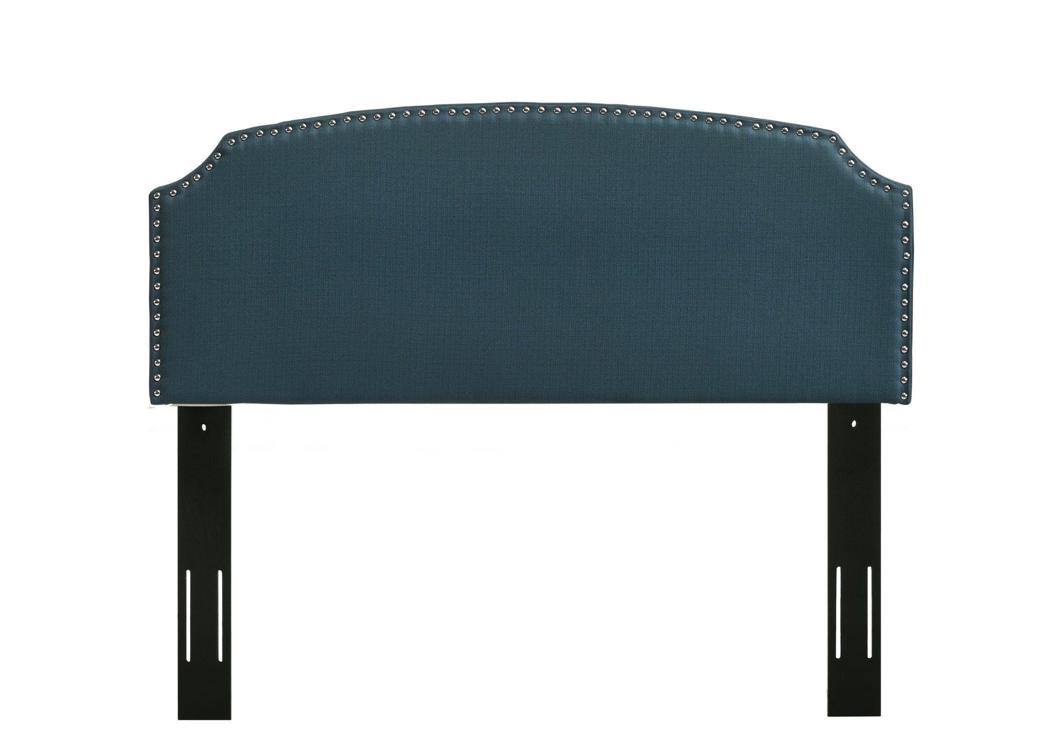 Elige Upholstered Panel Headboard Upholstery: Blue, Size: Full/Queen