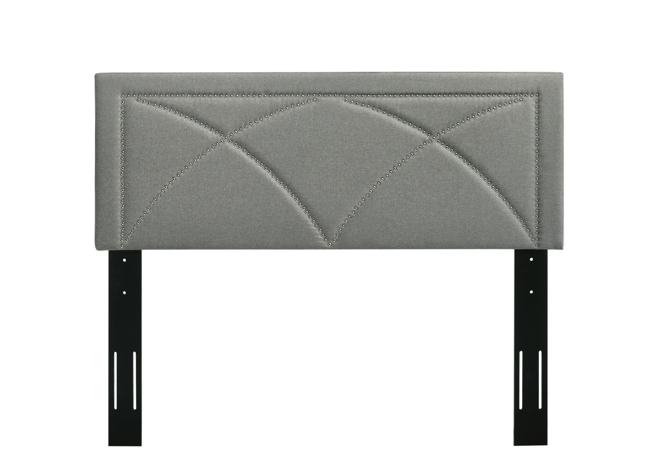 Ondine Upholstered Panel Headboard Size: Twin, Upholstery: Light Gray