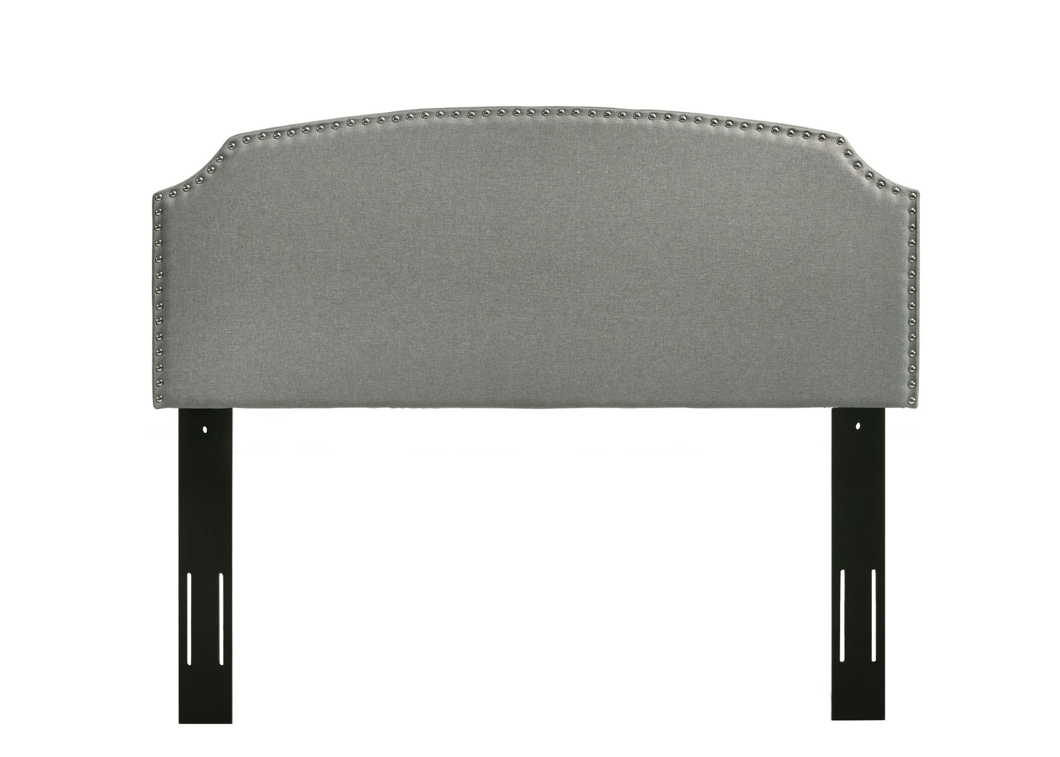 Elige Upholstered Panel Headboard Upholstery: Light Gray, Size: King