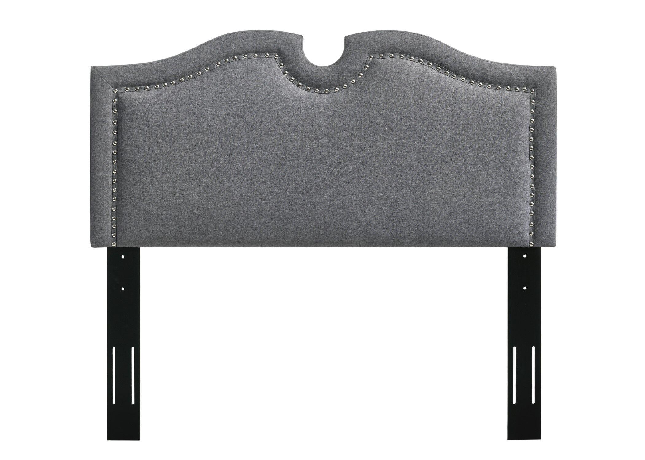 Eligah Upholstered Panel Headboard Upholstery: Dark Gray, Size: King