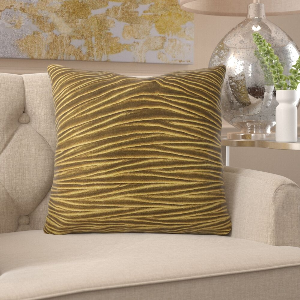 Friddle Luxury Throw Pillow Size: 16