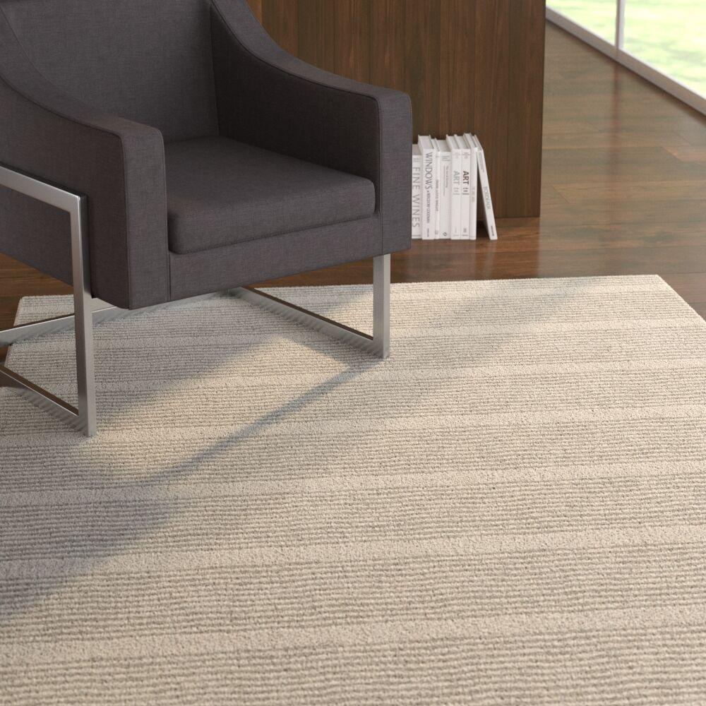 Esperanza Zen Stripe Block Print Gray Area Rug Rug Size: Rectangle 2' x 3'
