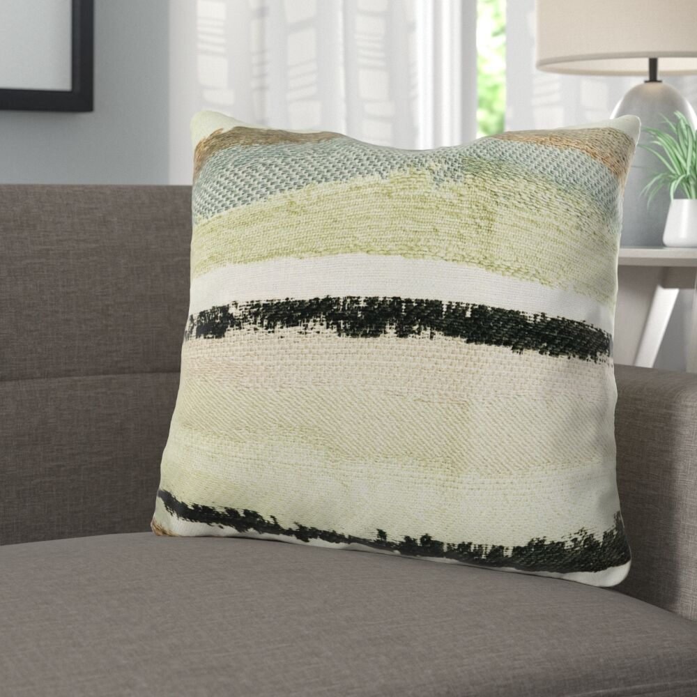 Deshields Stone River Sand Luxury Pillow Size: 16