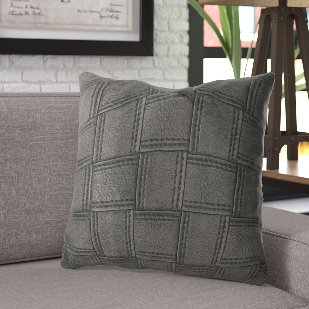 Lefferts Luxury Throw Pillow Size: 24