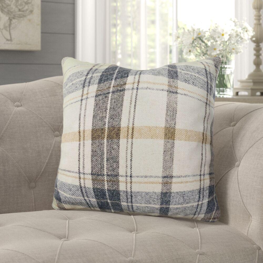 Hillingdon Plaid Luxury Pillow Size: 26