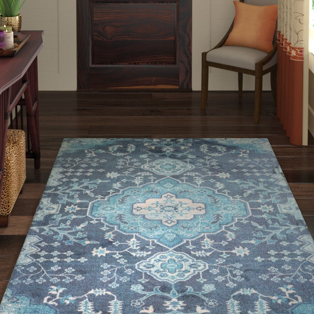 Fresno Overdyed Blue Area Rug Rug Size: Rectangle 5' x 7'