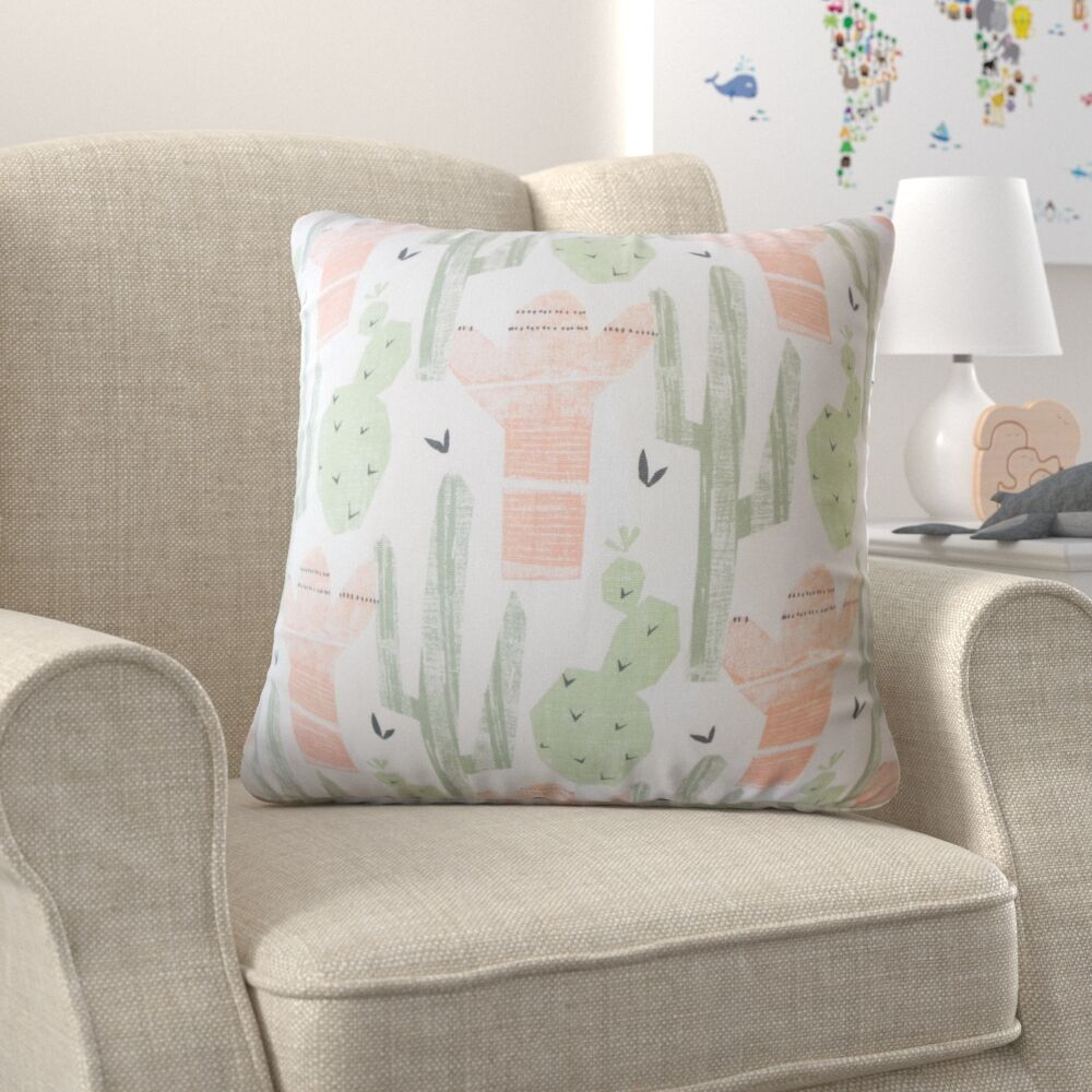 Ayotte Graphic Down Filled 100% Cotton Throw Pillow Size: 24