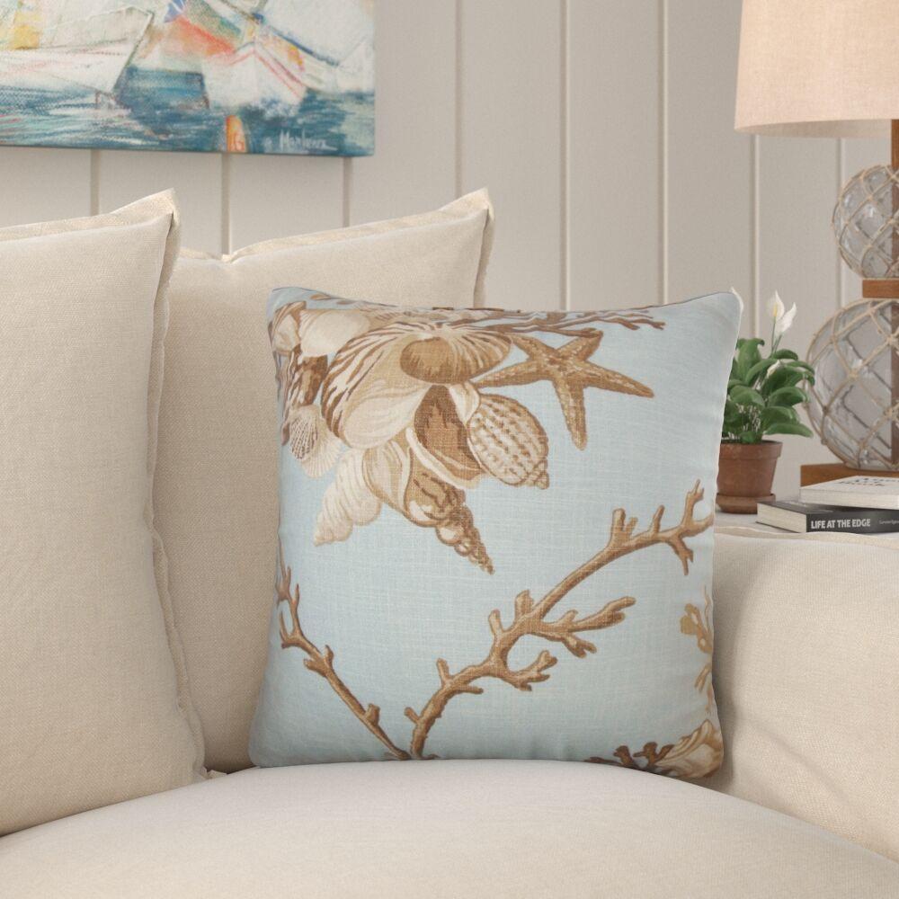 Ramsgate Coastal Throw Pillow Color: Surf, Size: 22