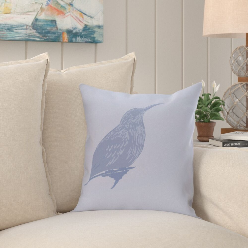 Falkirk Print Outdoor Throw Pillow Color: Cornflower, Size: 16