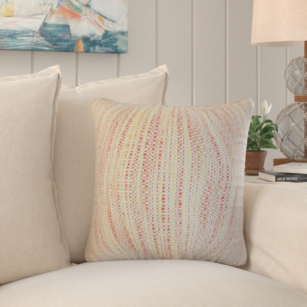 Chrisholm Striped Throw Pillow Color: Blossom, Size: 24