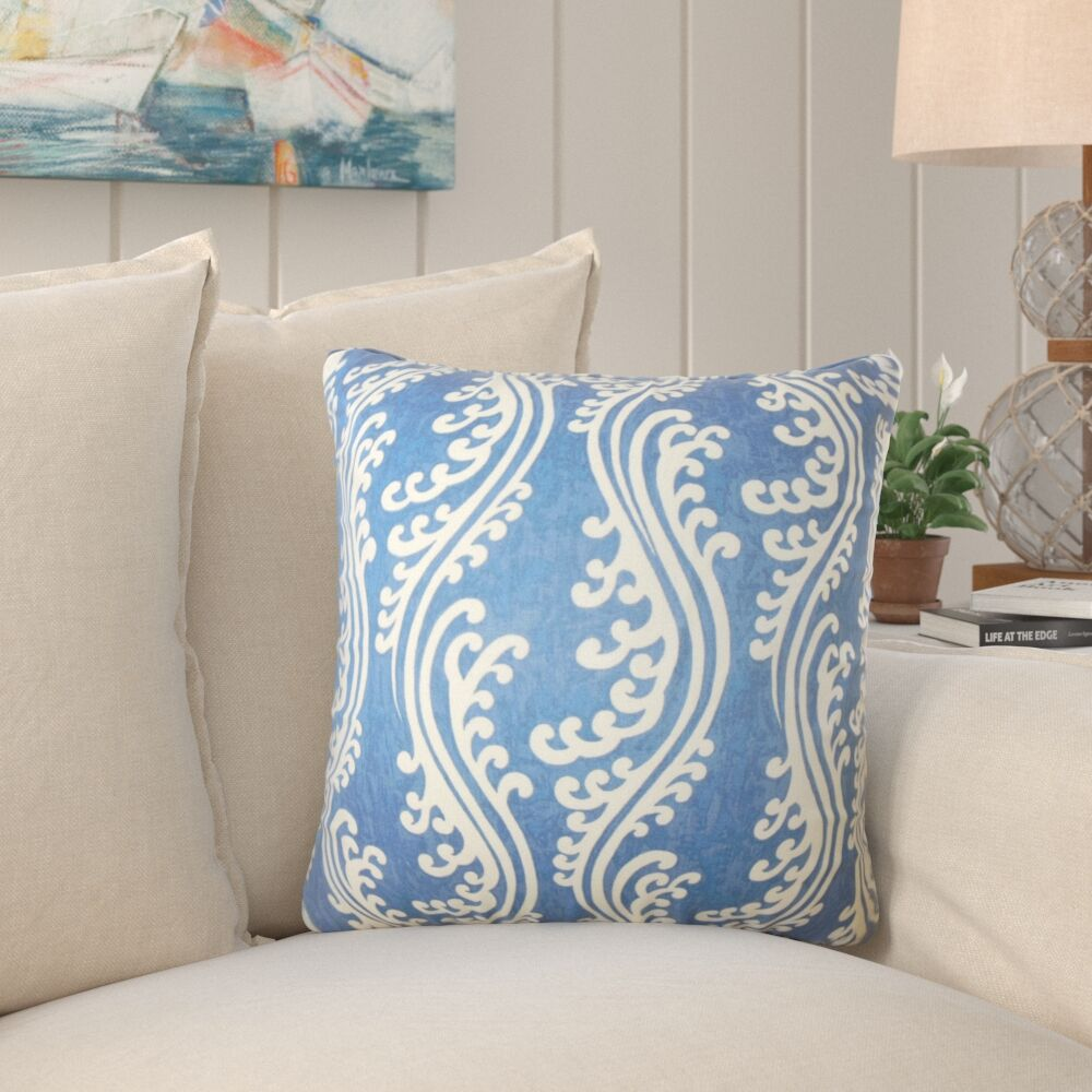 Isleboro Down Filled 100% Cotton Throw Pillow Size: 20