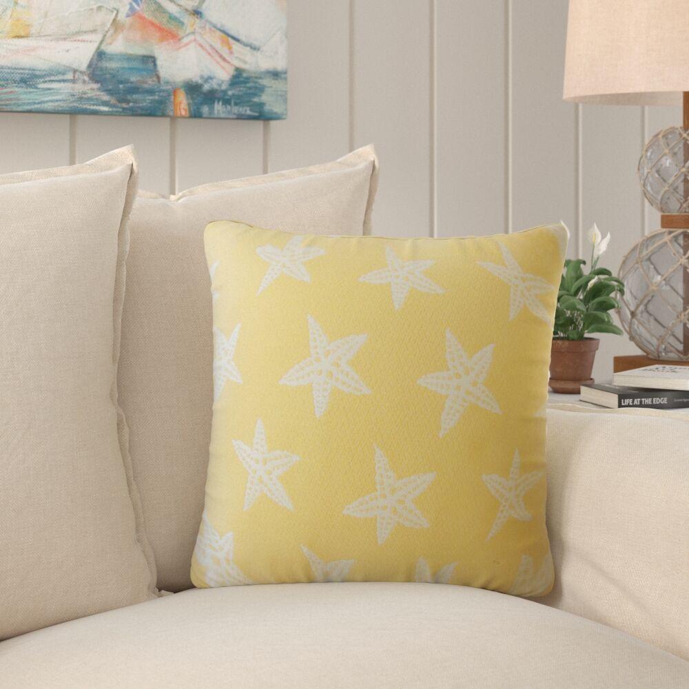 Plympton Coastal Down Filled Throw Pillow Size: 22
