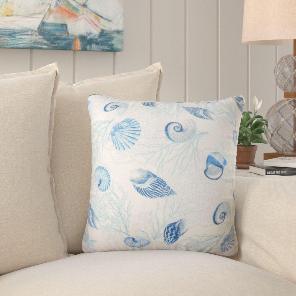 Sedgwick Coastal Down Filled 100% Cotton Throw Pillow Size: 22
